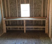 10×16 utility inside workbench and window