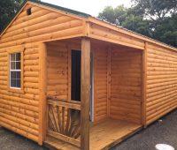 12×40 Utility side porch log siding